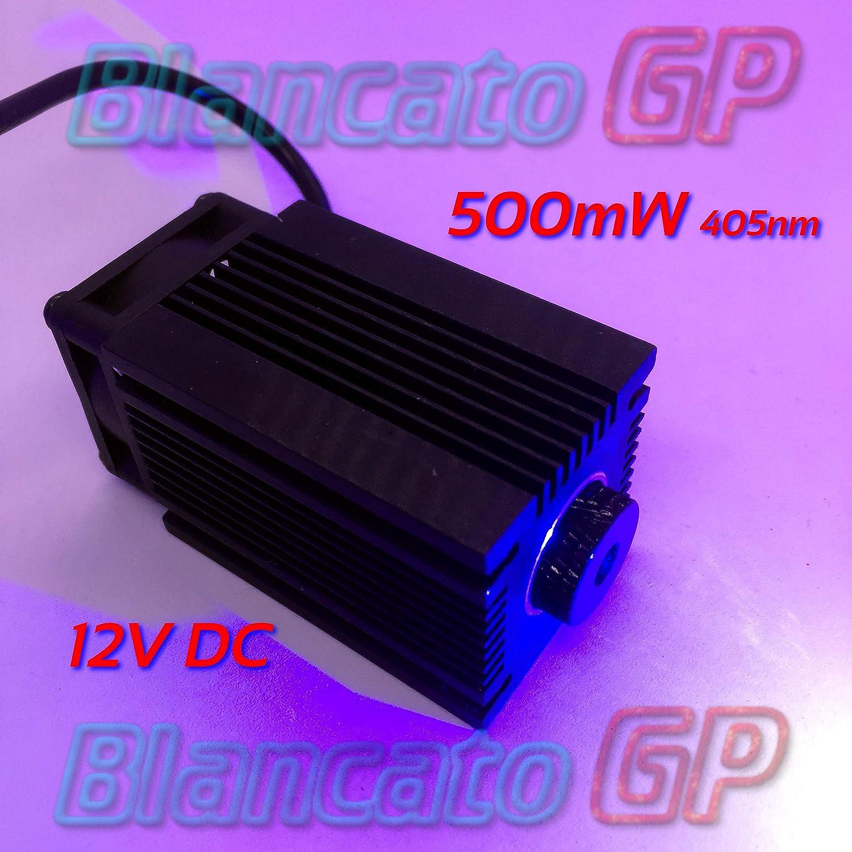 Module laser 12V Bleu Violet 405nm 500mW gravure Diode Module Focusable Engravin BlancatoGP