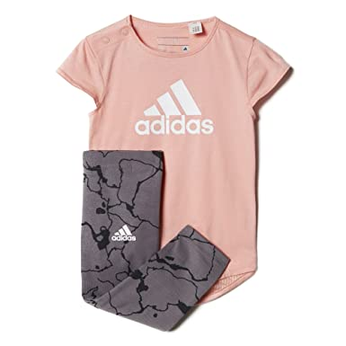 f1da1e8a7 adidas I Girls Set Ensemble Short+TS Fille Multicolore: Amazon.fr ...