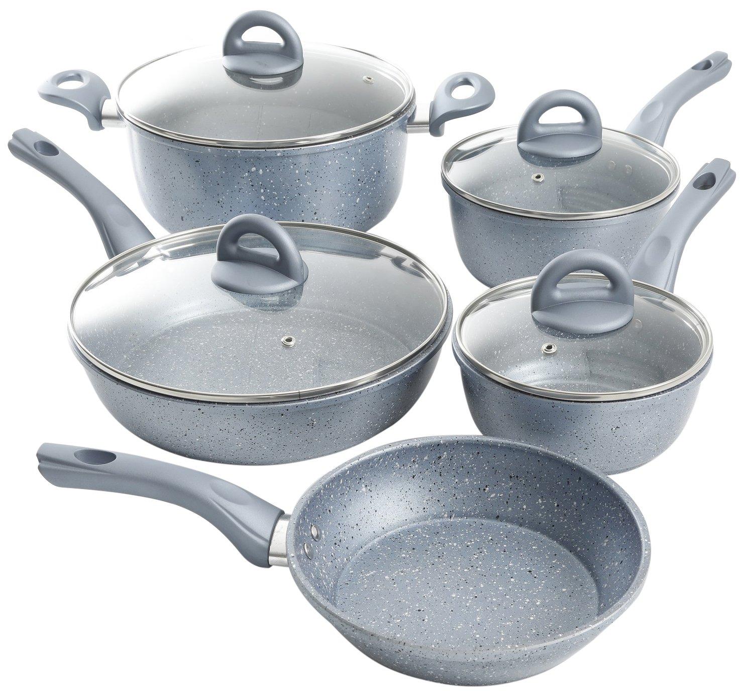 Oster 111937.09 Havendale 9 Piece Non-Stick Cookware Set, Aluminum