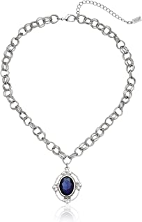"""product image for 1928 Jewelry Gold-Tone Made with Light Rose Swarovski Crystal Pendant Necklace, 16"""""""