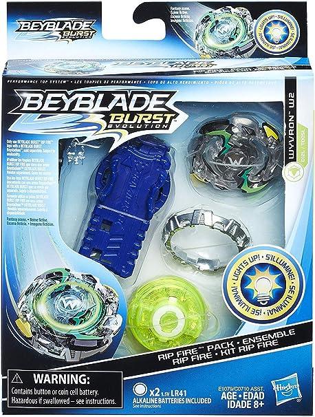 BEYBLADE Burst Slingshock Rip Fire Starter Pack Forneus F4 Light-Up Top with Ri