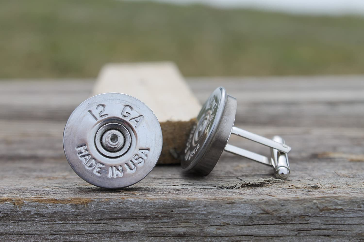 12 Gauge Federal Silver Shot Gun Shell CuffLinks Made in the USA