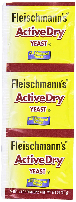 Fleischmann's Active Dry Yeast, 3 pk, 0.75 oz Packet