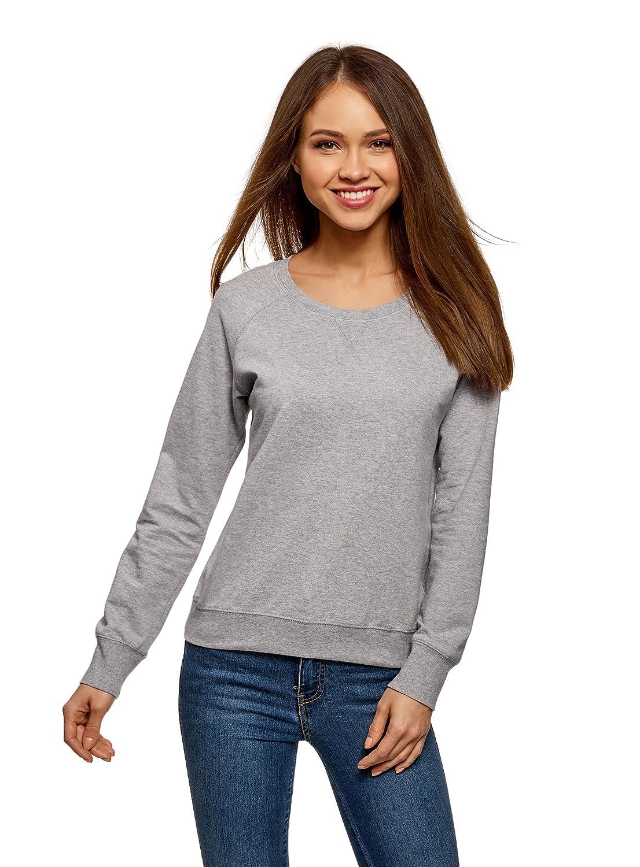 oodji Ultra Femme Sweat-Shirt Basique en Coton RIFICZECH s.r.o. 14807021-1B