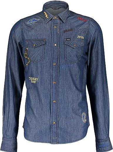 Diesel New-Sonora-RE Camisa casual Azul 01 Hombre: Amazon.es ...