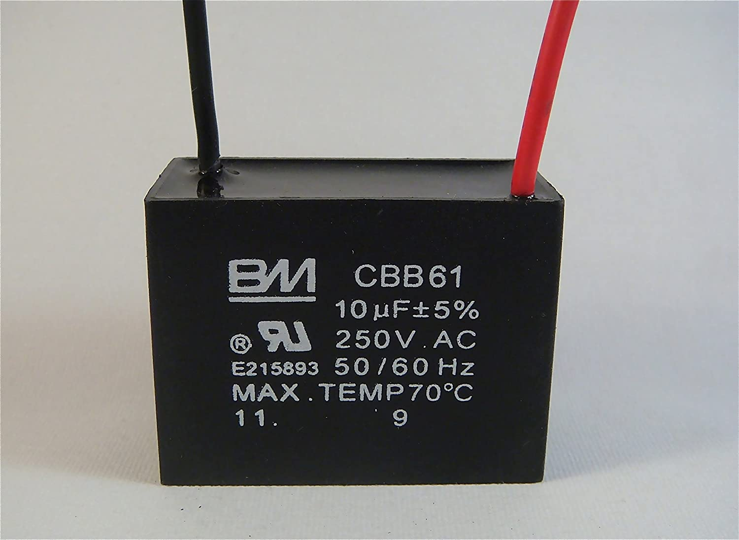 FAN CAPACITOR CBB61 10uf 250V 2 WIRE: Amazon.com: Industrial ...