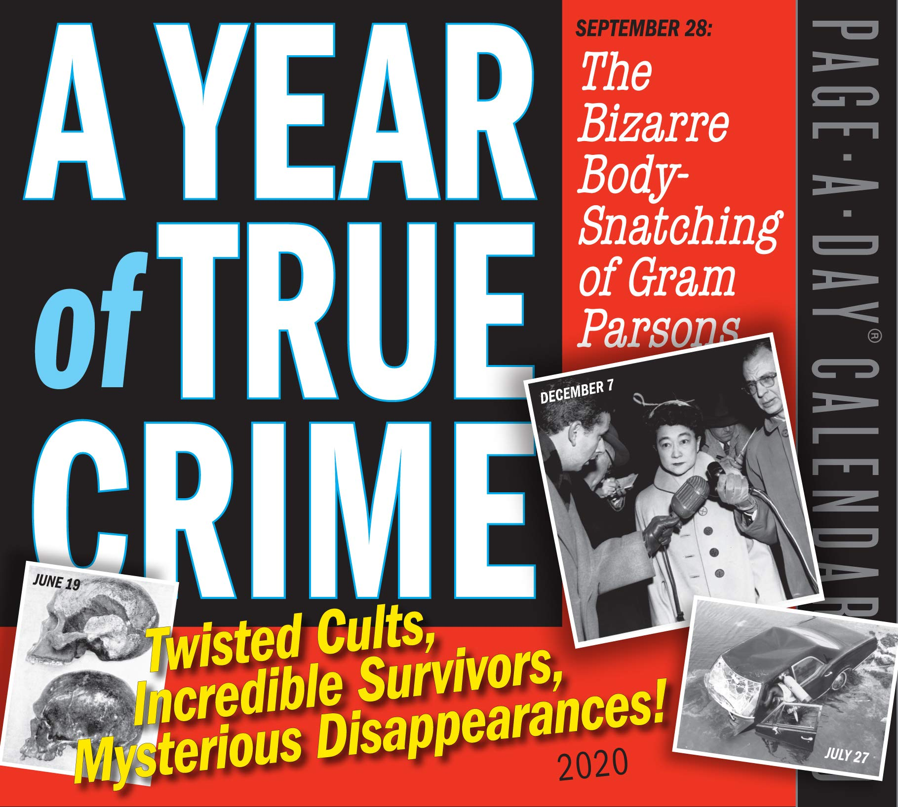 Occult Calendar December 2020 A Year of True Crime Page A Day Calendar 2020: Workman Publishing