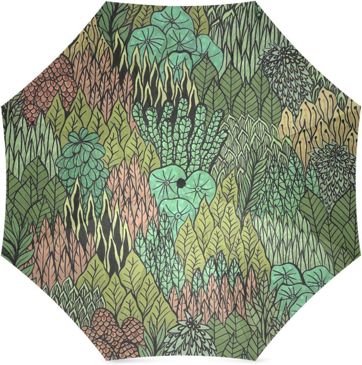 Beautytool Personalized April Leaves Foldable Sun Rain Anti-Uv Umbrella