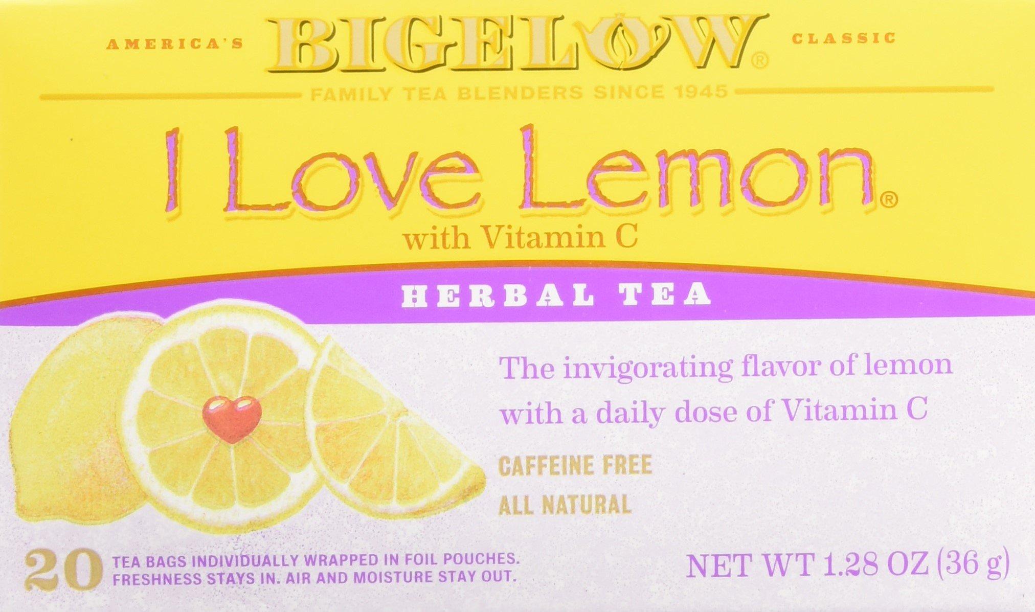 Bigelow Tea I Love Lemon Herbal Tea, 6 Count