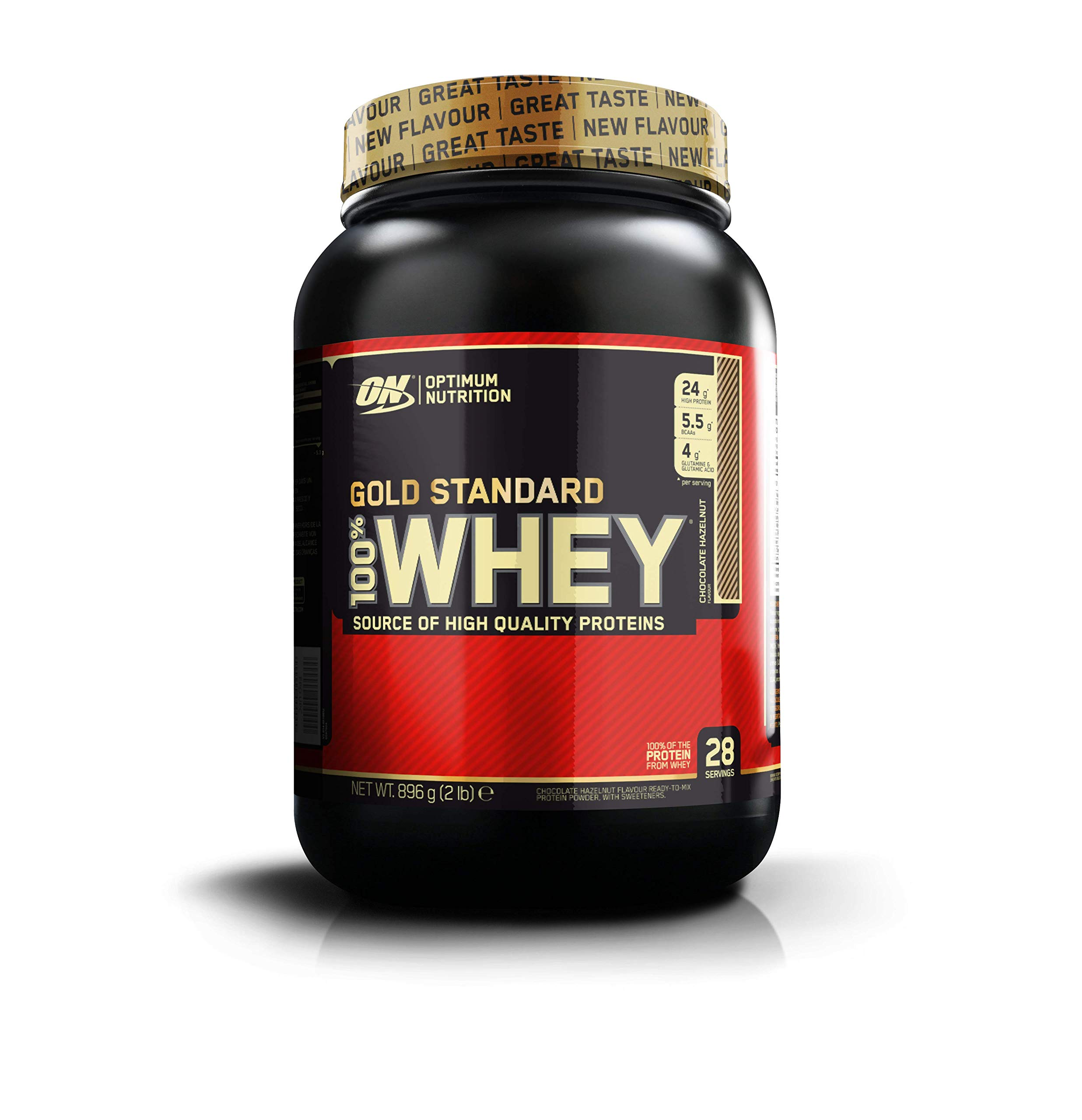 Optimum Nutrition Gold Standard 100% Whey Proteína en Polvo, Chocolate y Avellana - 896