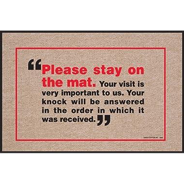 HIGH COTTON Please Stay On The Mat Indoor/Outdoor Doormat