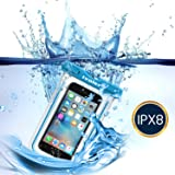 [IPX8 Certificado] iVoler Funda Bolsa Móvil Impermeable Universal 6 Pulgadas para iPhone 7, 7 Plus,6 / 6s Plus, SE 5S 5C, Samsung Galaxy S7/S7 Edge/S6/S6 Edge/Edge+, etc. (Azul)