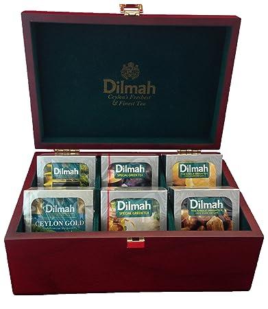 Amazoncom Dilmah Luxury Wooden Tea Presenter Tea Display