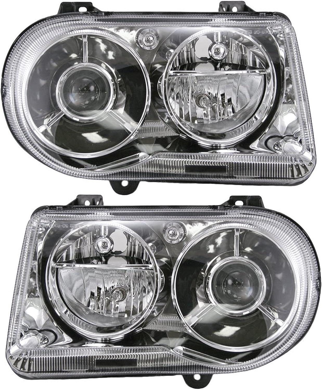 Left Driver Side LH 2005-2009 CHRYSLER 300 Non Projection Halogen Headlight
