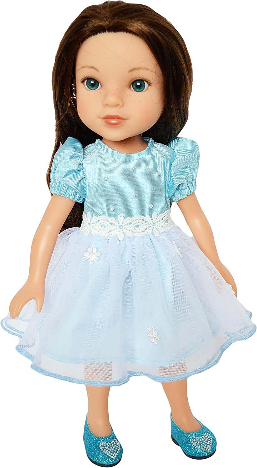 Blue Bunny Nightgown Fits 14.5 Inch American Girl Wellie Wishers Doll Clothes
