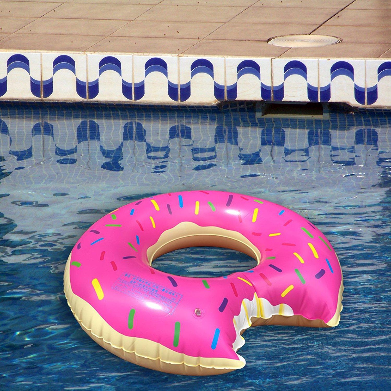 Amazon.com: Flotador de dona gigante para piscina, 3 pies de ...