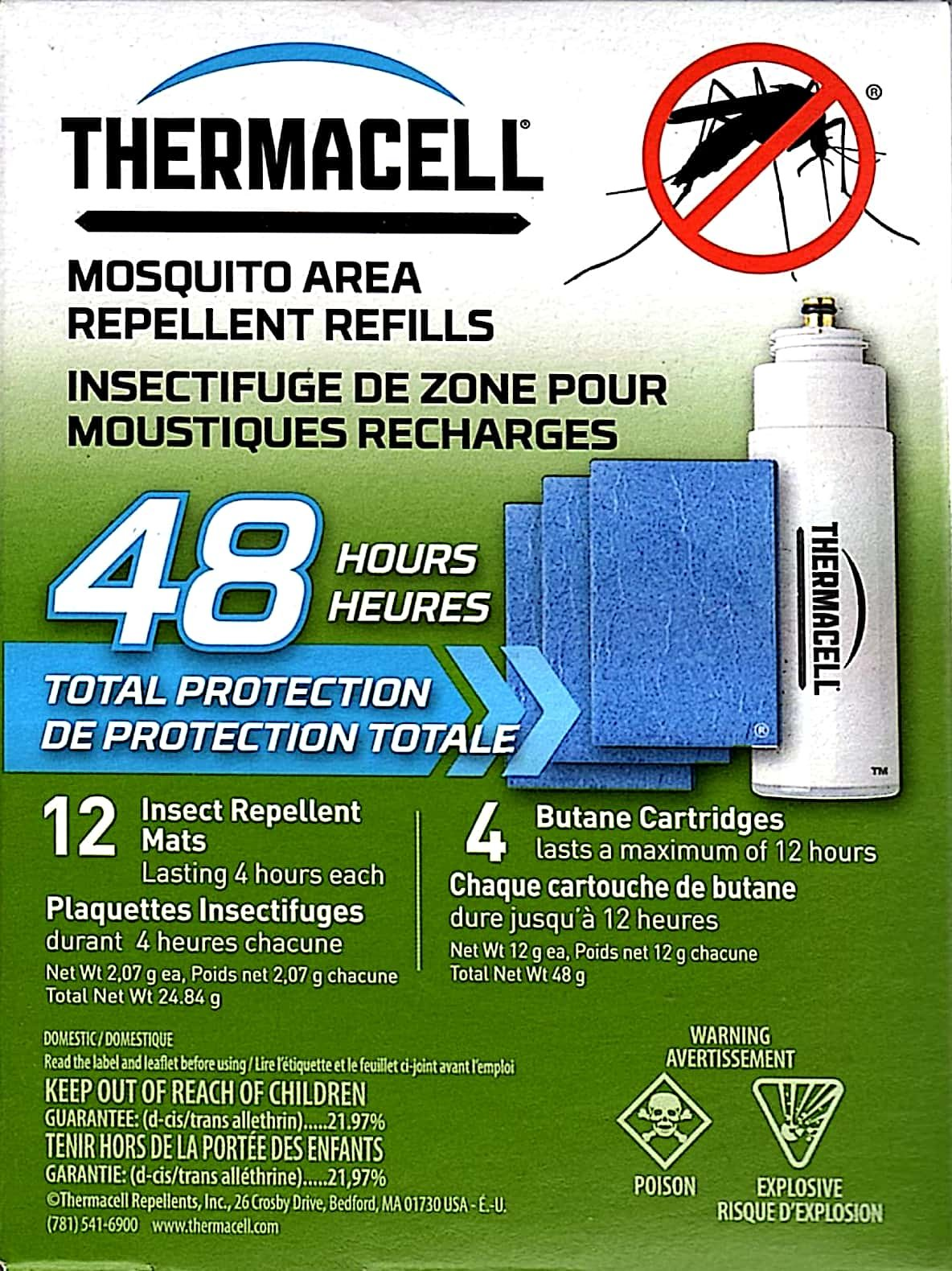 ThermaCELL Mosquito Repellent Refills R-4 - Two Pack, Model: R-4 , Home & Outdoor Store