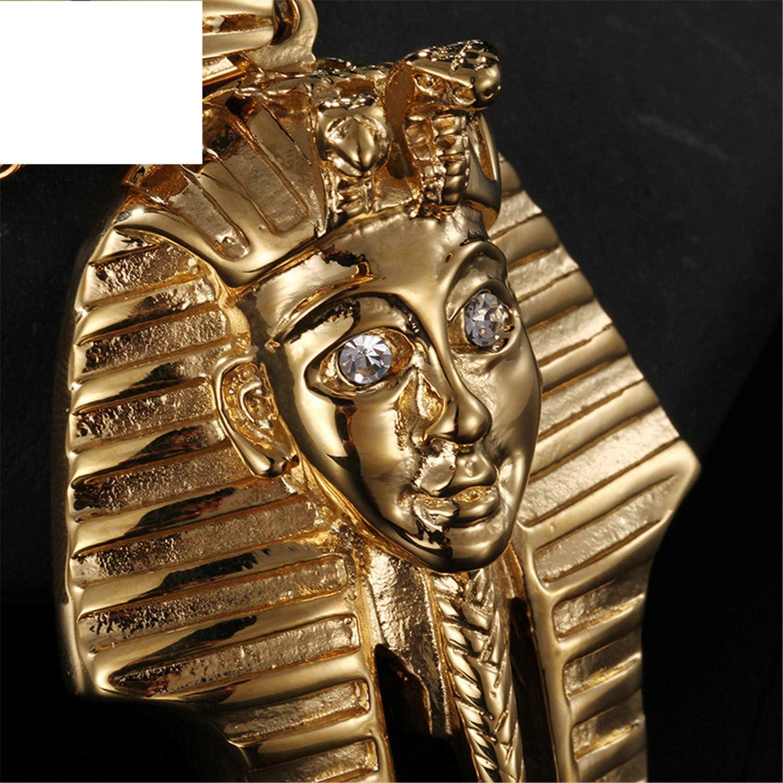 WANGSHUIJUN Egyptian Pharaoh Necklaces for Men Women Vintage Gold Stainless Steel Egypt Pharaoh Pendant Necklace Retro Unisex Jewelry