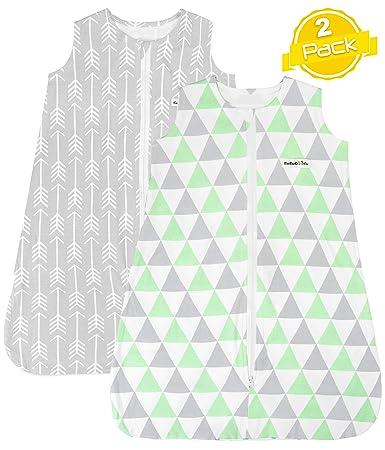 Baby Sleeping Bag BaeBae Goods Sleep Bag Set for Baby Boys /& Girls Elephants Collection Wearable Blankets