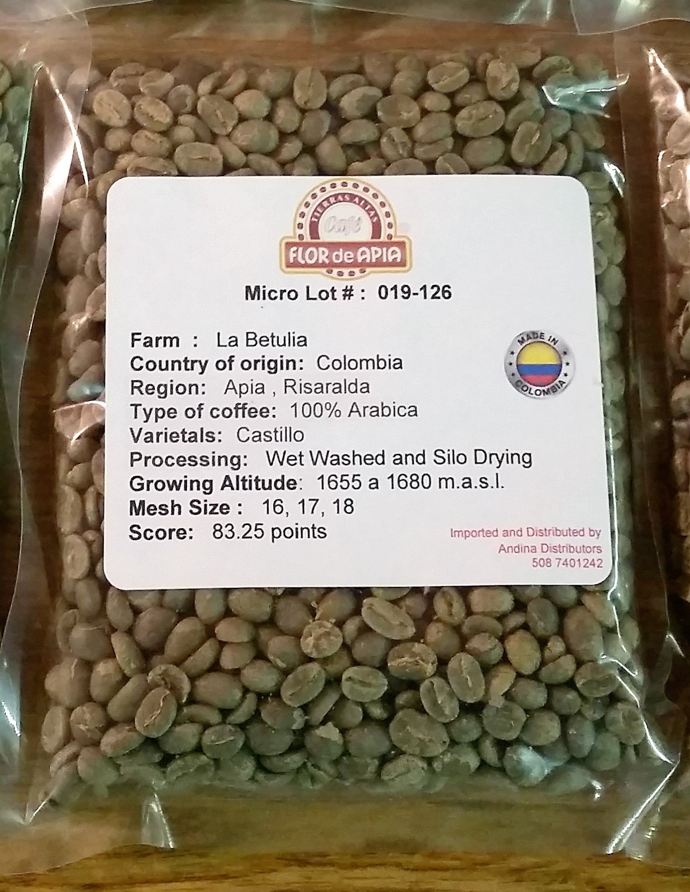 Colombian Green coffee Bean - Special Micro Lots 100% Arabica (10 Lb) by Micro lots # 126