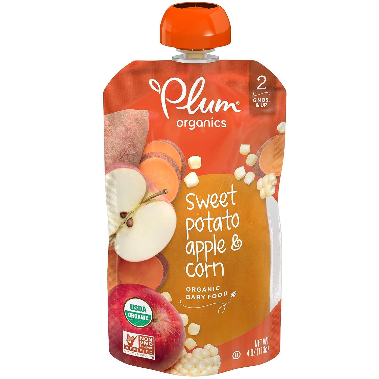 Plum Organics Stage 2, Organic Baby Food, Sweet Potato, Apple and Corn, 4 Oz