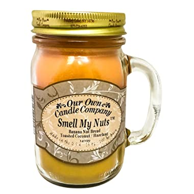 Our Own Candle Company Smell My Nuts Scented 13 oz Mason Jar Candle - Made in the USA
