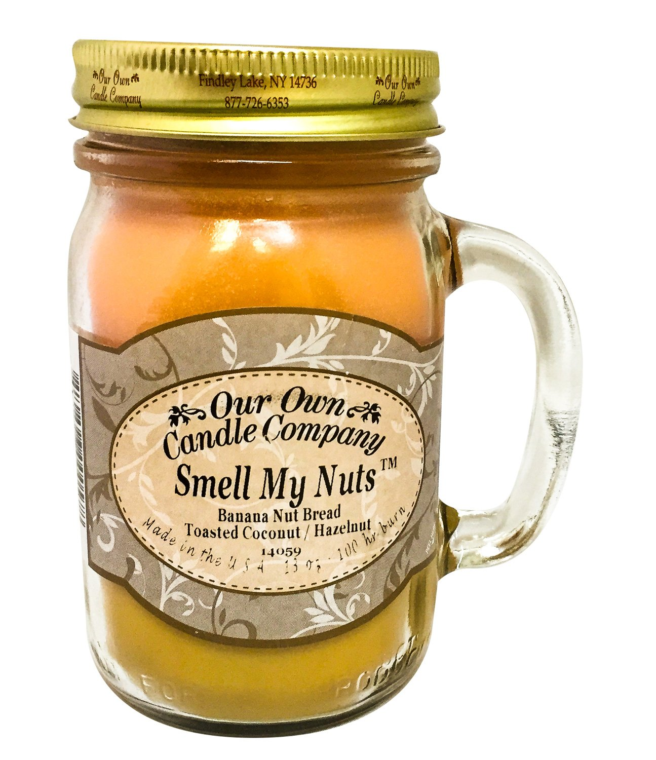 Our Own Candle Company Smell My Nuts Scented 13 oz Mason Jar Candle - Made in the USA by by Our Own Candle Company
