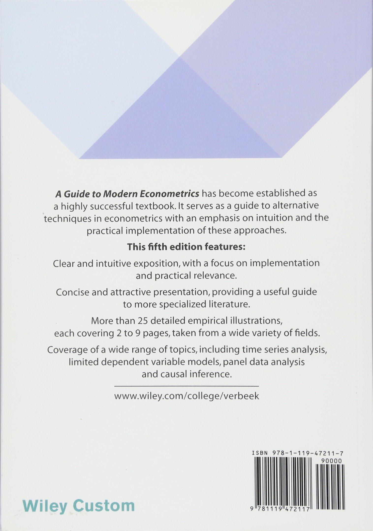 modern econometrics verbeek solution manual today manual guide rh brookejasmine co User Guide marno verbeek a guide to modern econometrics solution manual