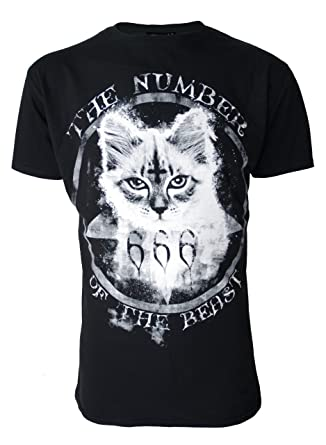 f2eaa11c0 Mens Number Of The Beast Genuine Darkside T Shirt: Amazon.co.uk: Clothing