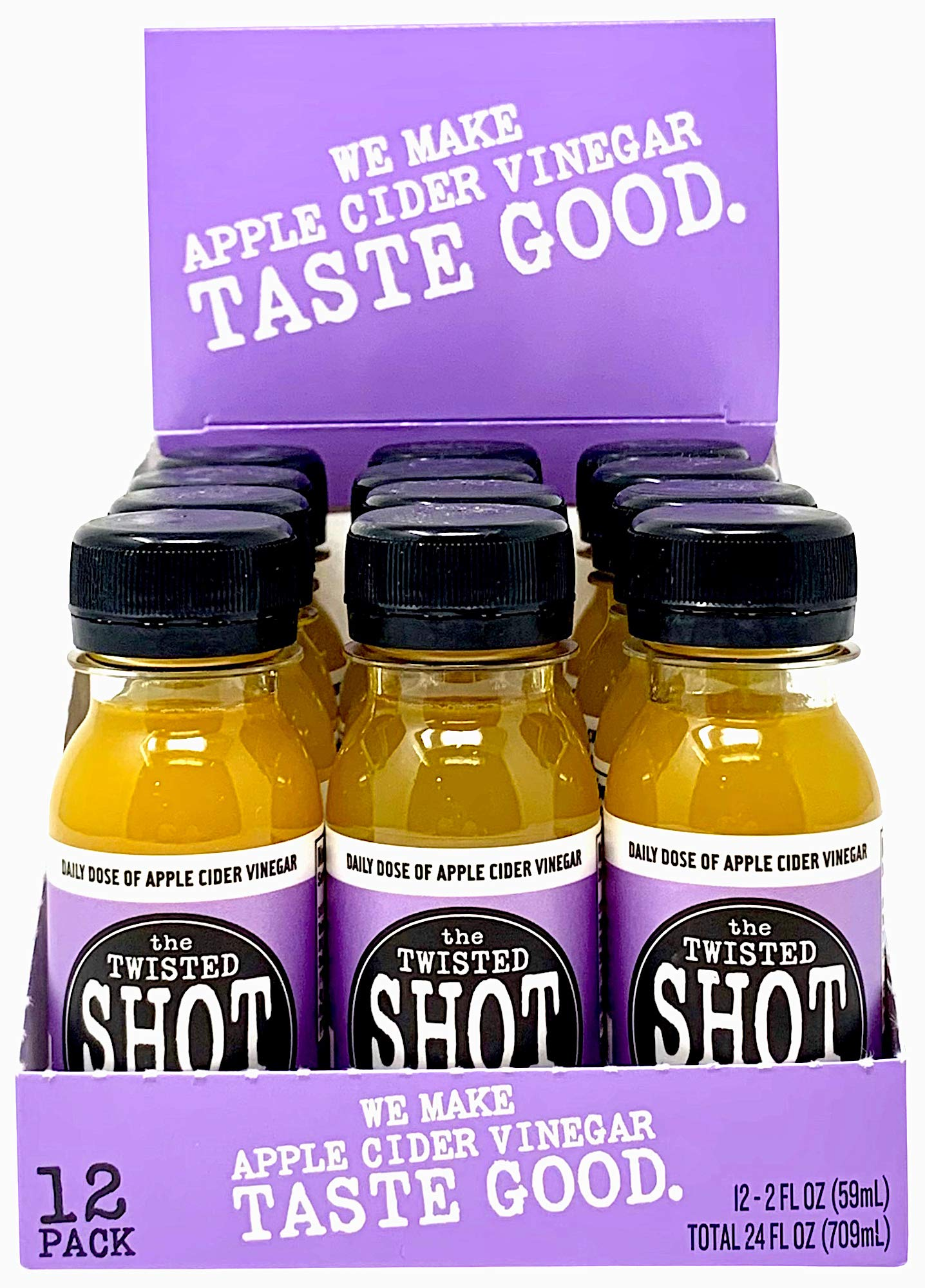 The Twisted Shot - Organic Apple Cider Vinegar shot with Turmeric, Ginger, Cinnamon, Honey & Cayenne - 48-pack of 2oz shots by The Twisted Shrub (Image #8)