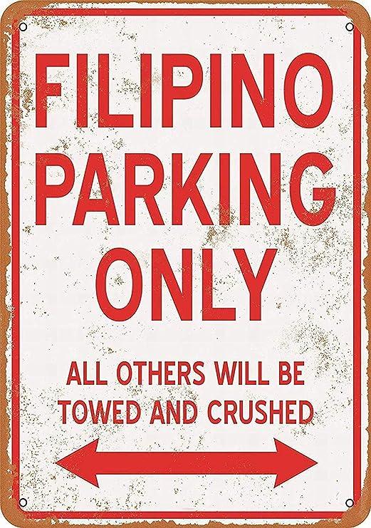 HiSign Solo estacionamiento Filipino Carteles de Chapa de ...