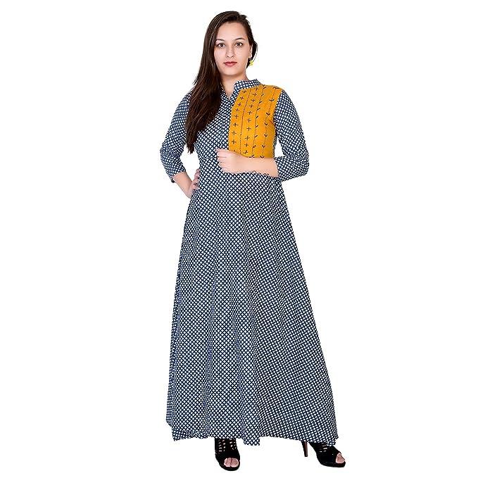 Royal Galaxy Kurti Indian Designer Blue Kurta Ethnic Tunic Rayon