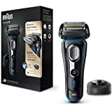Braun Series 9 9240s Wet&Dry Electric Shaver with Charging Stand, premium black with blue