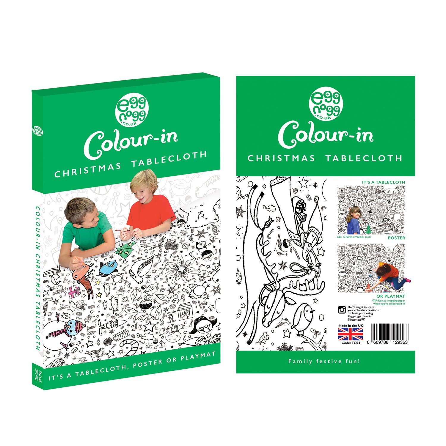 Amazon.com: Colour-in Tablecloth - Christmas (TC04): Toys & Games