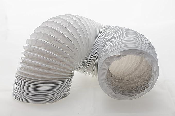 Tubo de salida de aire (PVC, diseño flexible, 125/127 mm de diámetro, 6 m de largo, compatible con instalaciones de aire acondicionado, secadoras o campanas extractoras): Amazon.es: Grandes electrodomésticos