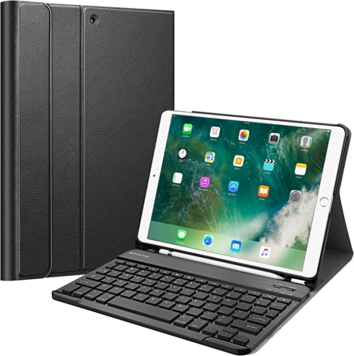 """Fintie Keyboard Case for iPad Air 3rd Gen 10.5"""" 2019 / iPad Pro 10.5"""" 2017 - SlimShell Stand Protective Cover w/Magnetically Detachable Wireless Bluetooth Keyboard and Pencil Holder, Black"""