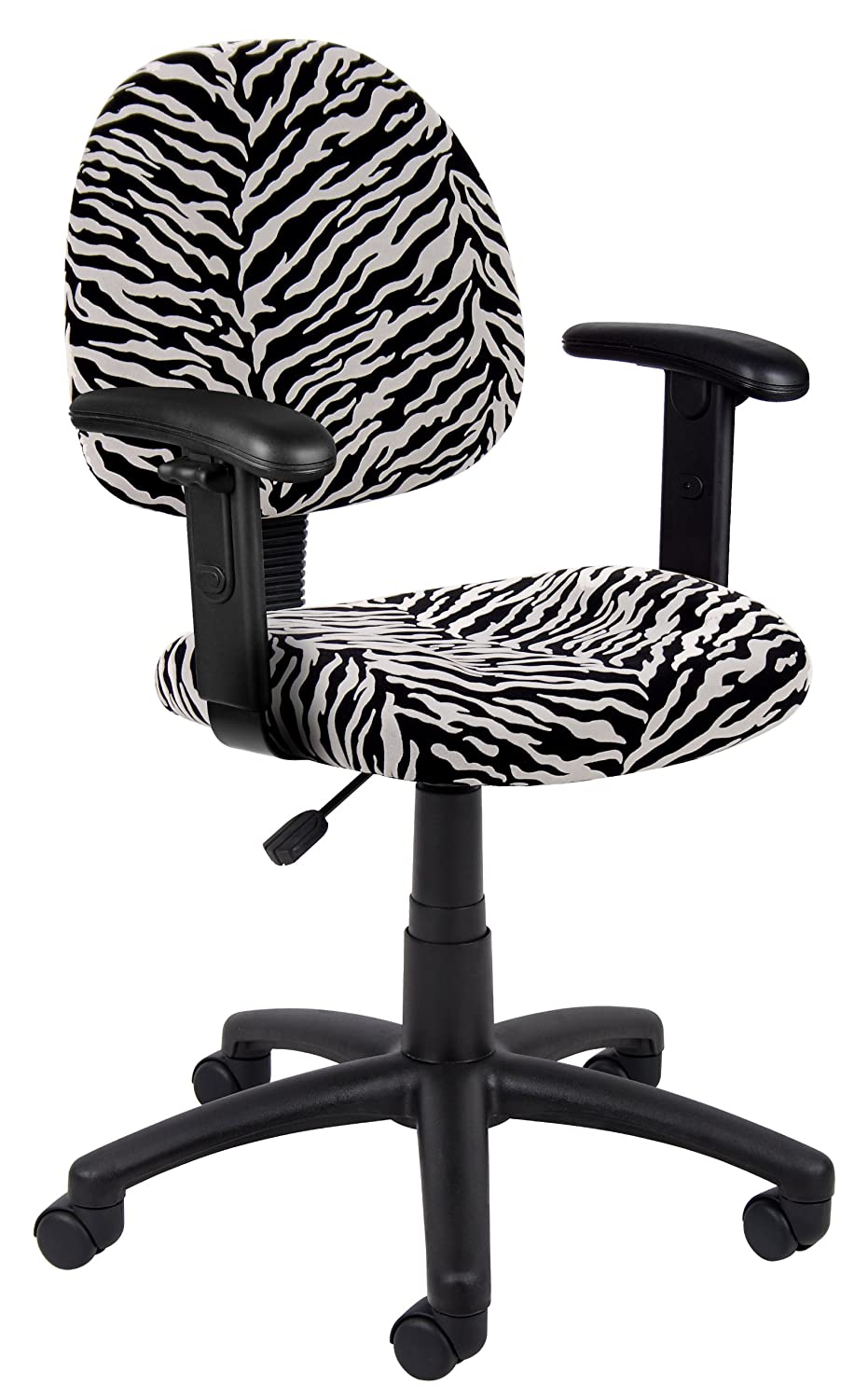 Great Amazon.com: Boss Office Products B326 ZB Perfect Posture Delux Microfiber Task  Chair With Adjustable Arms In Zebra: Kitchen U0026 Dining