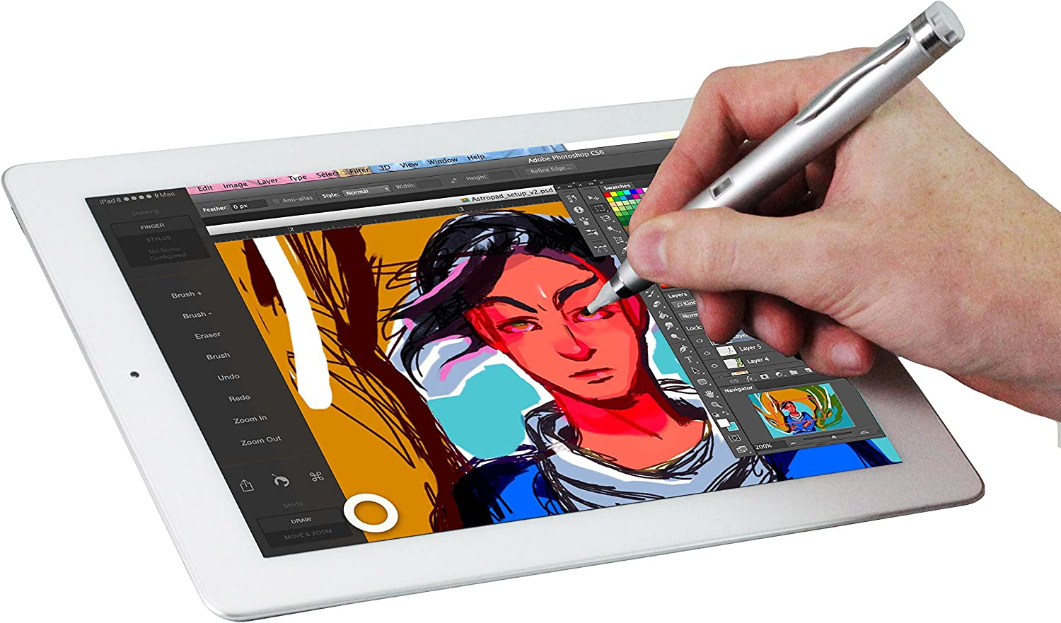 Navitech Silver Fine Point Digital Active Stylus Pen Compatible With HP ENVY 8 Note 5001na HP Pro Slate 8 Tablet HP Pro Tablet 408 G1 HP Pro Slate 8 Tablet HP Pro 10 EE G1 Tablet