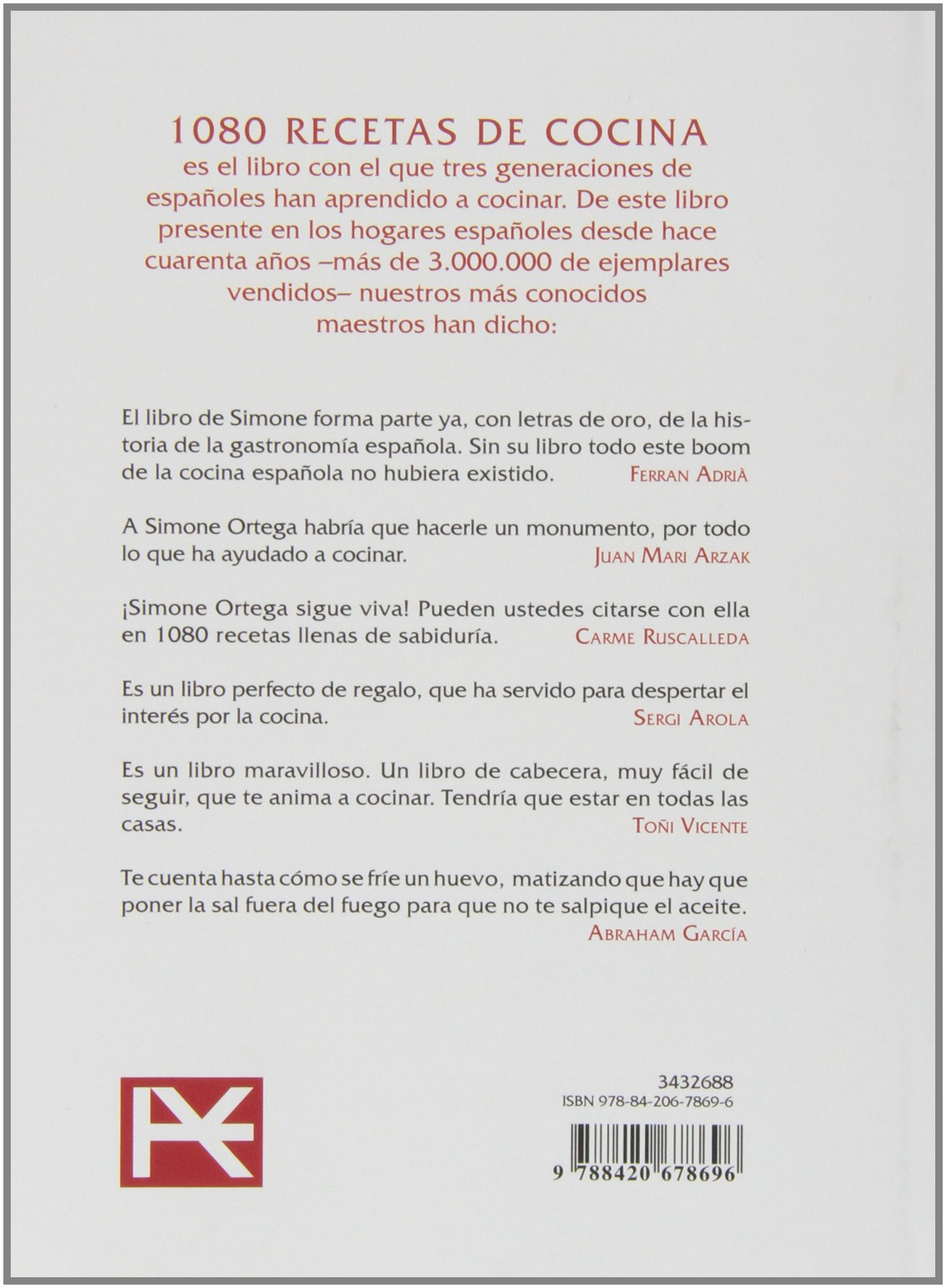1080 recetas de cocina / 1080 cooking recipes (Spanish Edition): Simone  Ortega Klein: 9788420678696: Amazon.com: Books