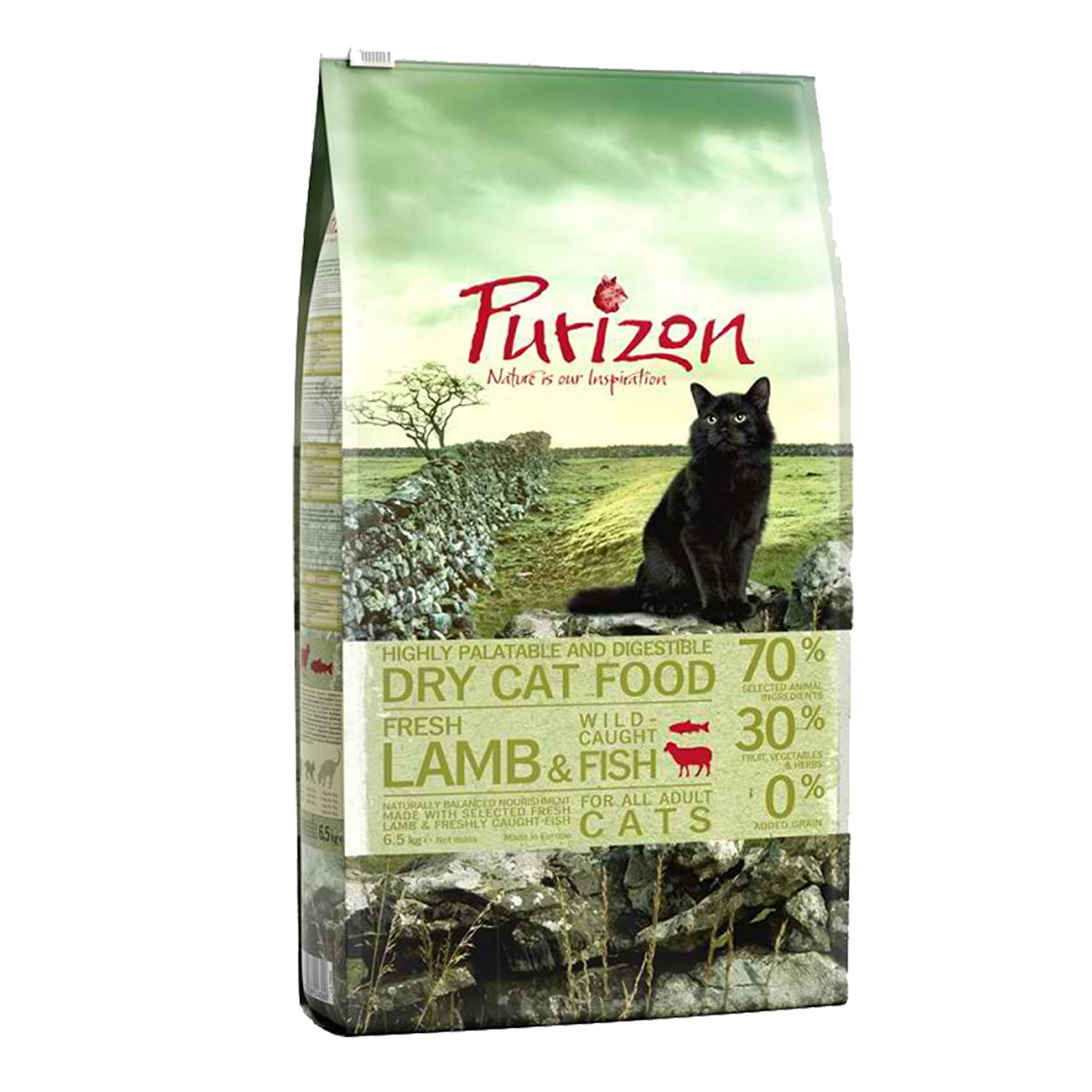 Purizon Premium Adult Dry Cat Food Lamb & Fish(6.5kg)