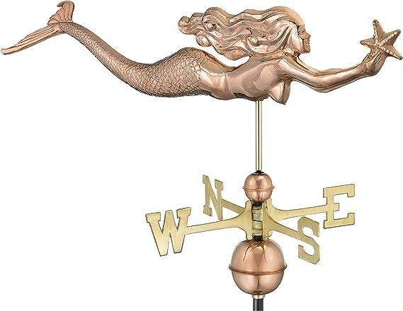 Copper Dalvento 420C Mermaid Weathervane