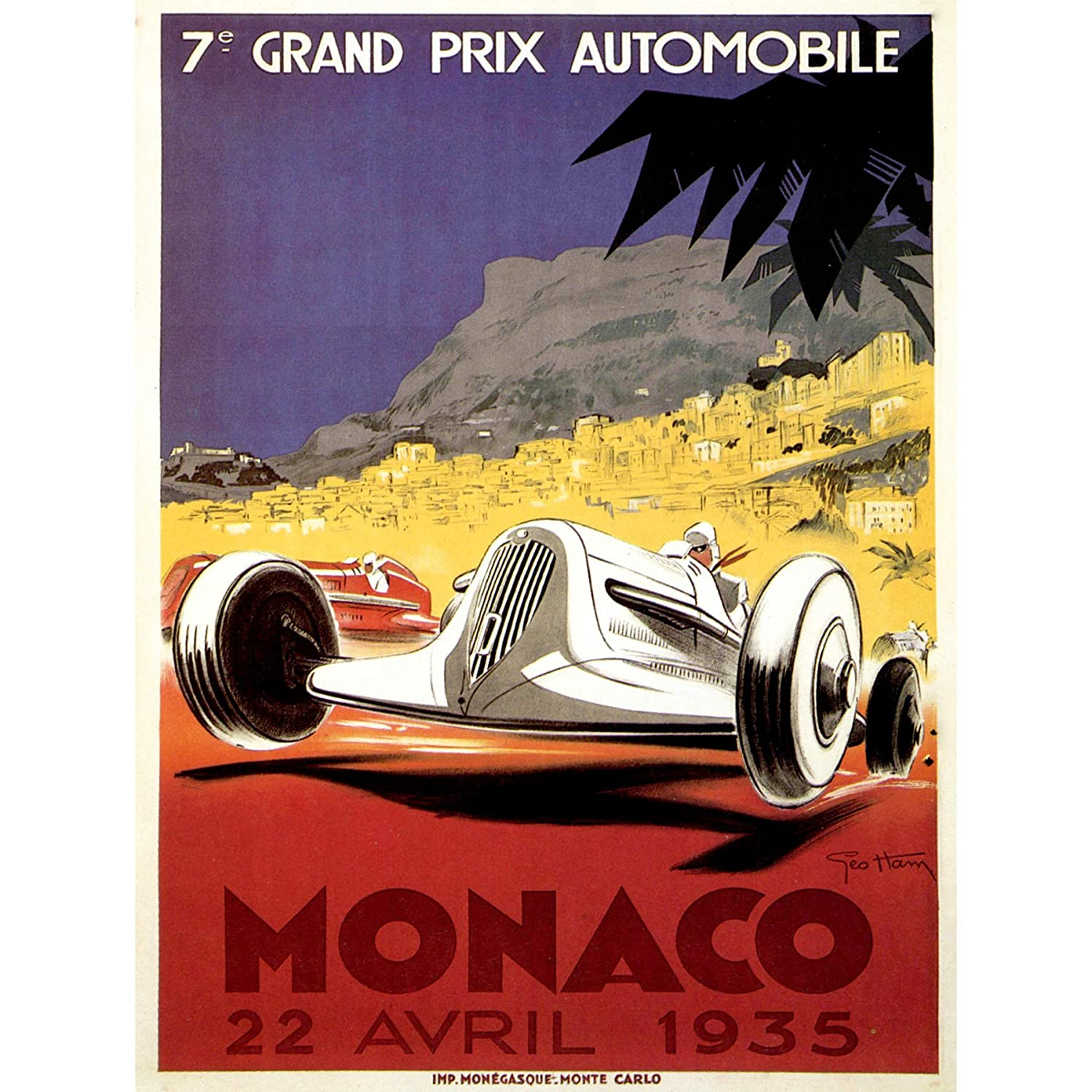 SPORT EXHIBITION RACE MOTOR GRAND PRIX 1935 MONTE CARLO MONACO 30X40 CMS  FINE ART PRINT ART POSTER BB9447: Amazon.co.uk: Kitchen & Home