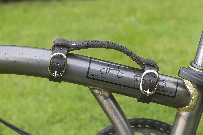 Cuero Mini con Asa para Brompton Mango Bicicleta Bici Marco Carga ...