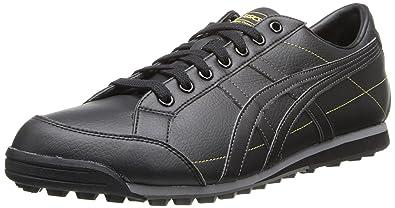 ASICS Men's Matchplay Classic Golf Shoe,Black/Onyx/Metallic Gold,10.5 M