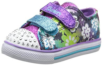 4bf2165a8f43 Skechers Baby Girl s Twinkle Toes  Chit Chat - Glint and Gleam- White Multi-