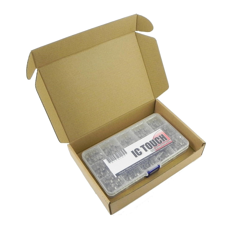 150pcs Glassicherungen Assorted Kit,5x20mm 250V  Schnellblassicherungen