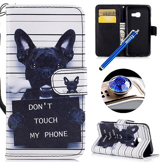 Etsue Kompatibel mit Samsung Galaxy A5 2017 Handytasche Handy Hüllen Flip Case Cover Schutzhülle Brieftasche Ledertasche Wall