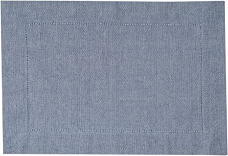 "set of 6 Blue Herringbone Woven 19/"" Placemats"