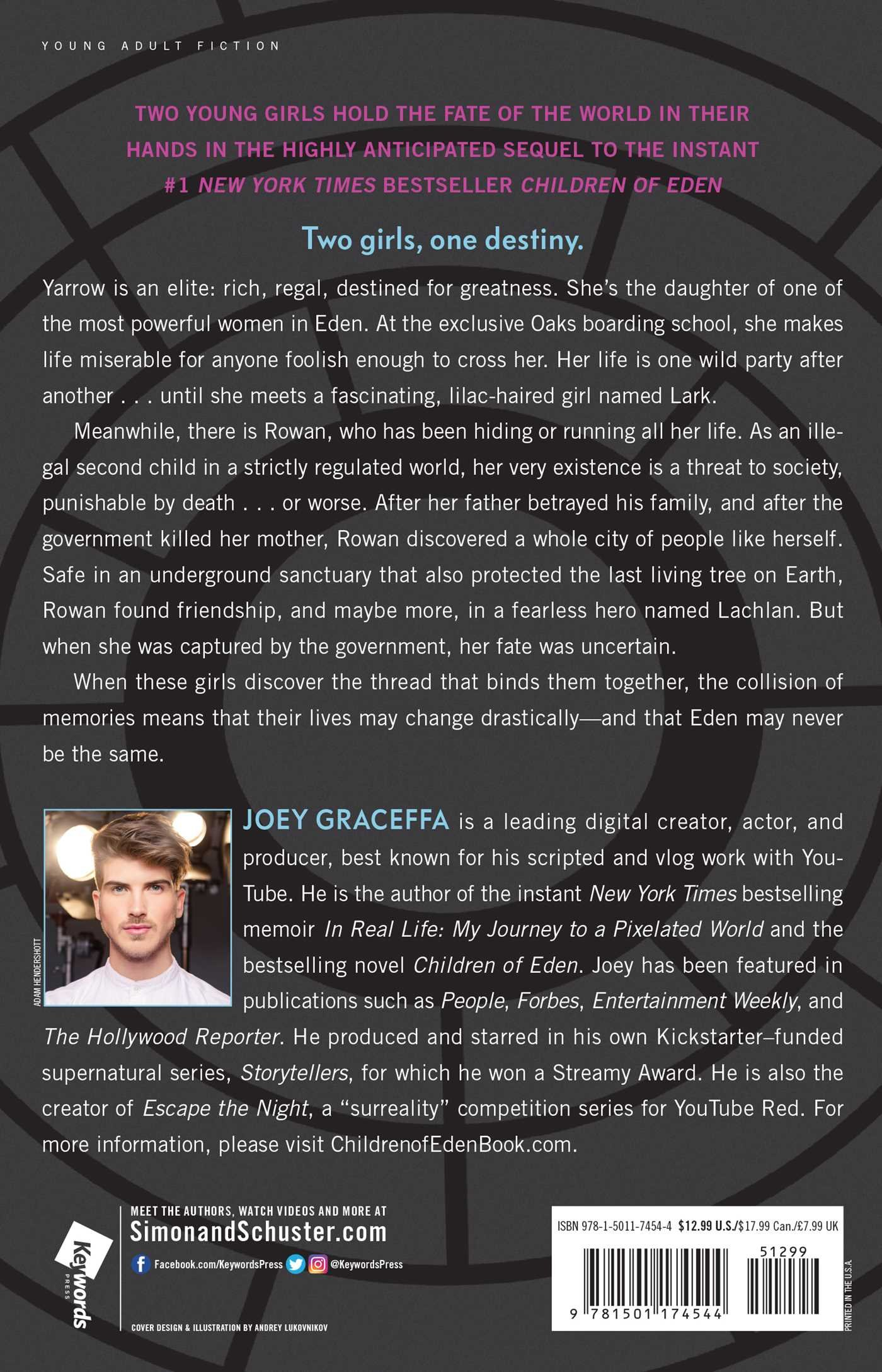 Amazon.com: Elites of Eden: A Novel (Children of Eden) (9781501174544):  Joey Graceffa: Books