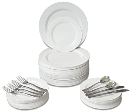 u0026quot; OCCASIONS u0026quot; 360 PCS / 60 GUEST Wedding Disposable Plastic Plate and Silverware  sc 1 st  Amazon.com & Amazon.com: